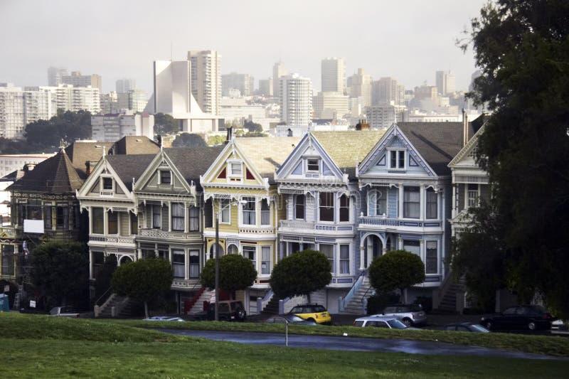 Edifício do Victorian em San Francisco, EUA fotografia de stock royalty free