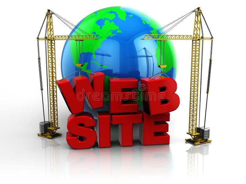 Edifício do Web site ilustração do vetor