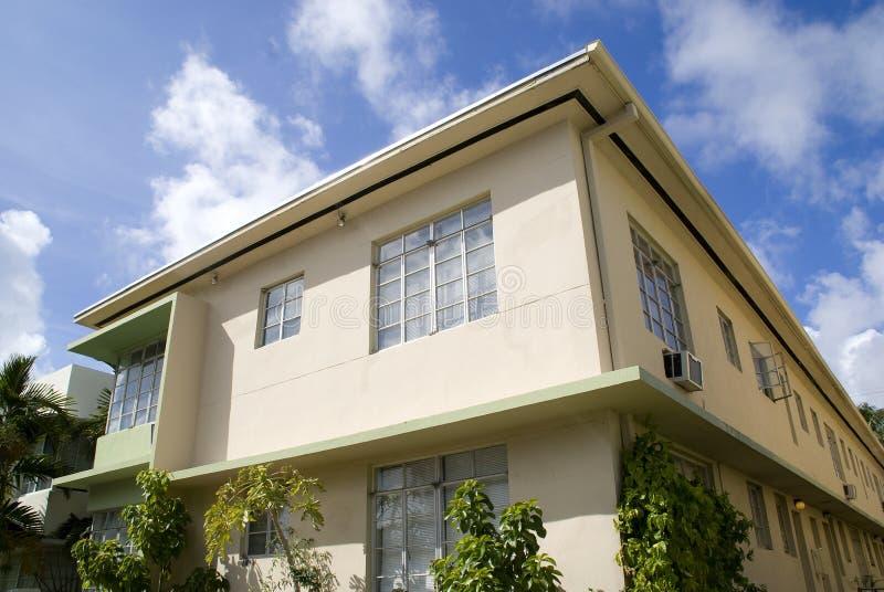 Edifício em Miami Beach fotos de stock