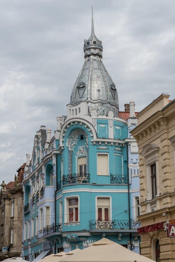 Edifício em Oradea, Romênia foto de stock