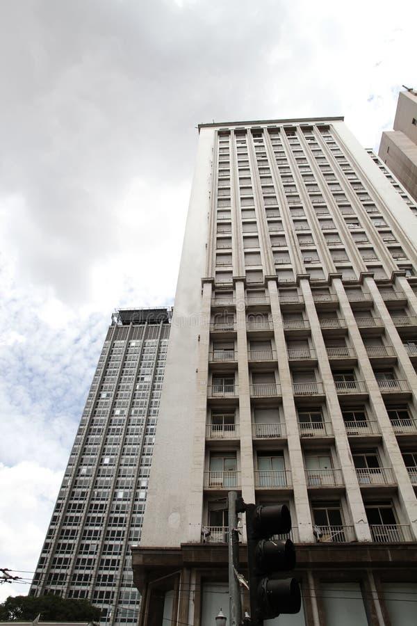 Edifício em Sao Paulo da baixa fotos de stock royalty free