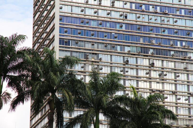 Edifício em Sao Paulo da baixa fotografia de stock royalty free