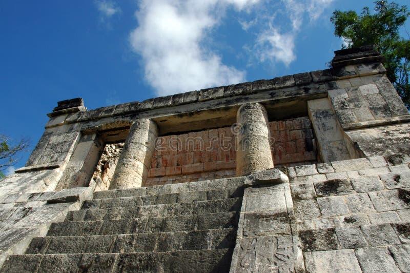 Edifício espectador real maia imagem de stock