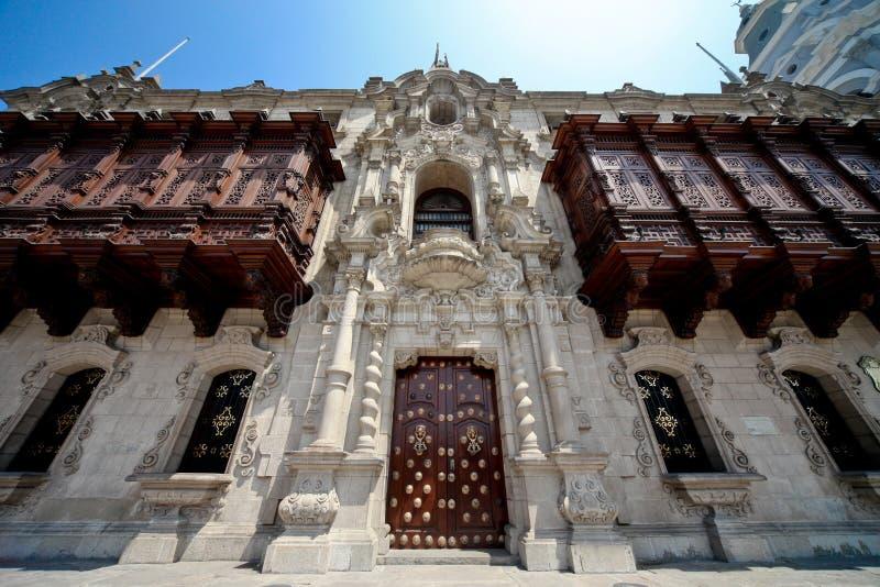 Edifício histórico, cidade de Lima foto de stock royalty free
