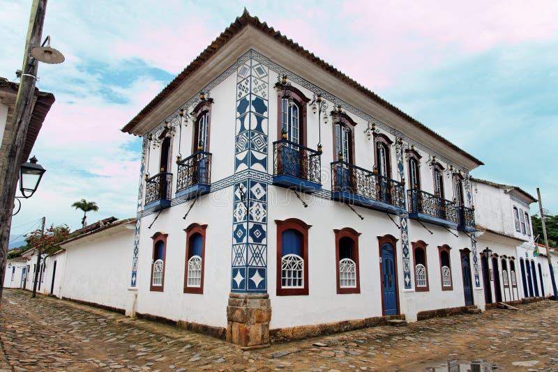 Edifício histórico de Paraty imagem de stock