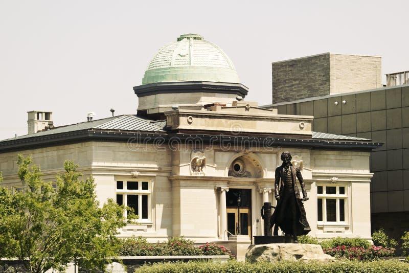 Edifício histórico em Jeffersonville fotografia de stock