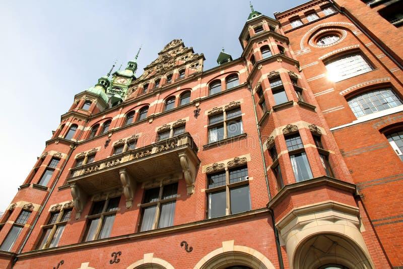 Edifício histórico no Speicherstadt em Hamburgo imagem de stock