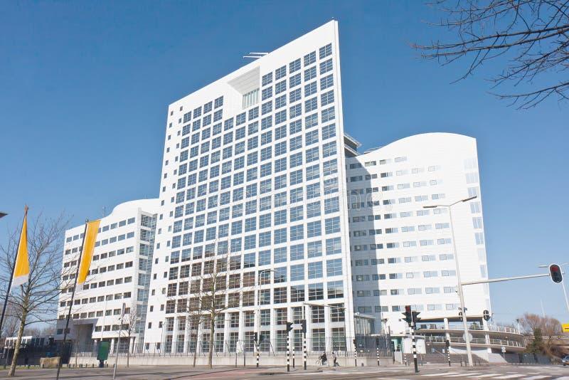 Edifício internacional do Tribunal Penal foto de stock