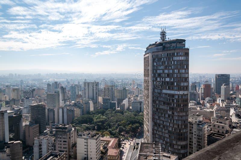 Edifício italiano em Sao Paulo da baixa fotos de stock royalty free