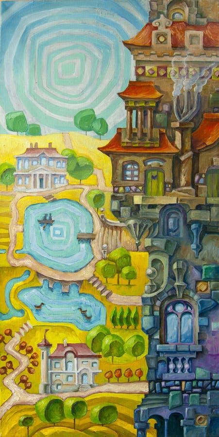 Edifício lunático ilustração royalty free