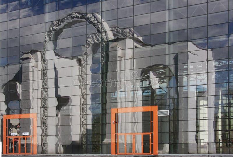 Edifício moderno bonito em um Park City Moscovo foto de stock royalty free