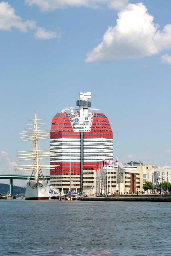 Edifício moderno em Göteborg (Sweden) fotos de stock royalty free