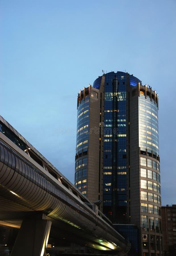 Edifício moderno em Moscovo fotos de stock royalty free