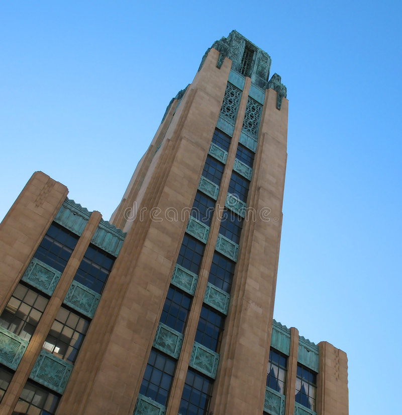 Edifício na avenida de Wilshire foto de stock