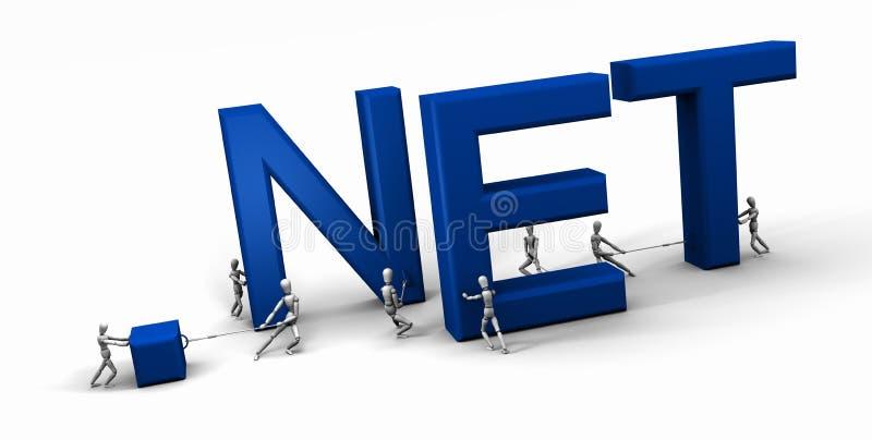Edifício ?.NET? da equipe ou dos povos ilustração do vetor