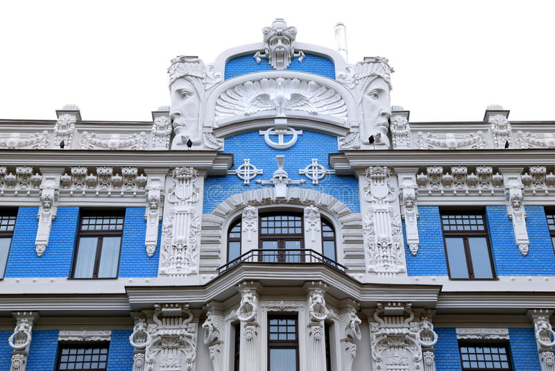 Edifício no jugendstyle (arte Nouveau) imagens de stock