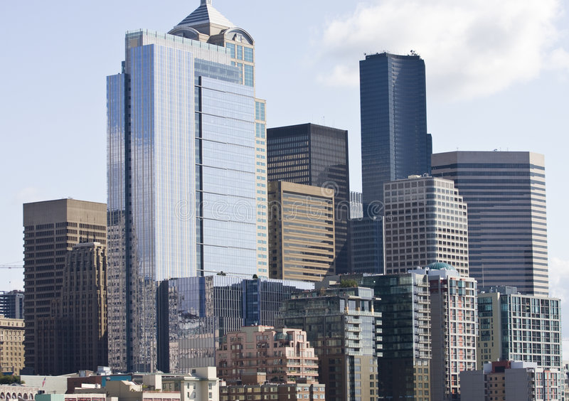 Edifício novo em Seattle fotografia de stock royalty free