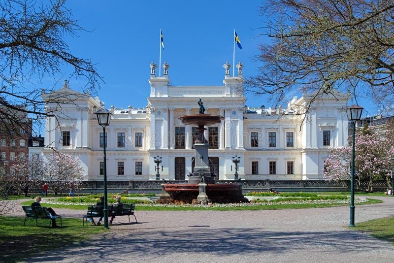 Edifício principal da universidade de Lund, Sweden fotos de stock
