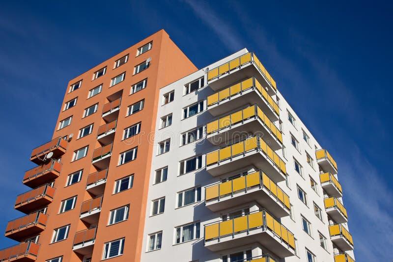 Edifício residencial fotografia de stock