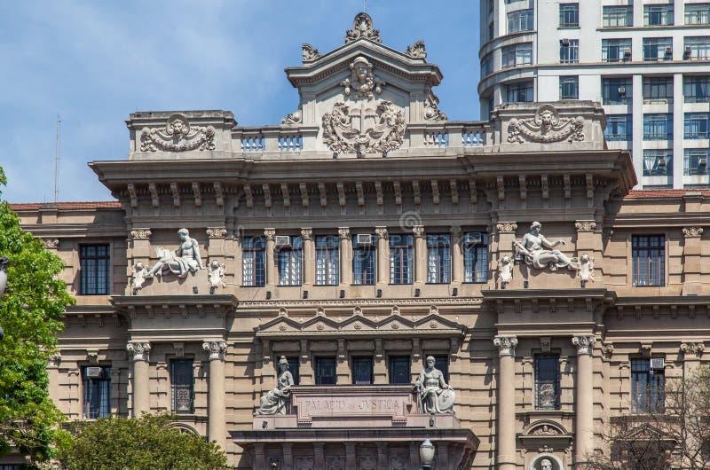Edifício Sao Paulo Brasil do palácio de justiça fotos de stock