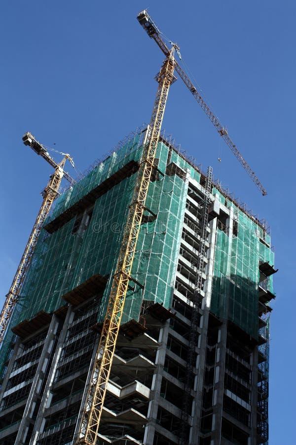 Edifício sob a construção imagens de stock royalty free