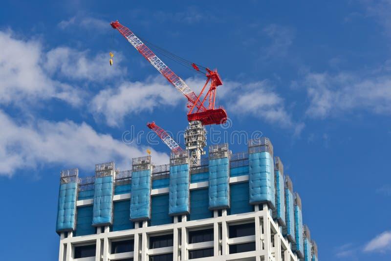 Edifício sob a construção. imagem de stock
