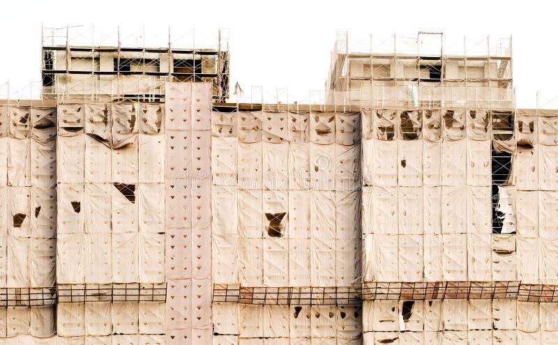 Edifício sob o teste padrão da construção fotos de stock