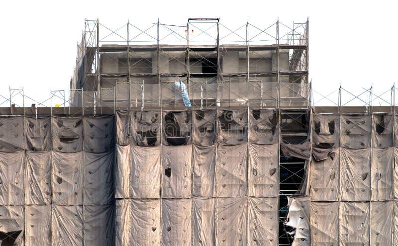 Edifício sob o teste padrão da construção fotografia de stock