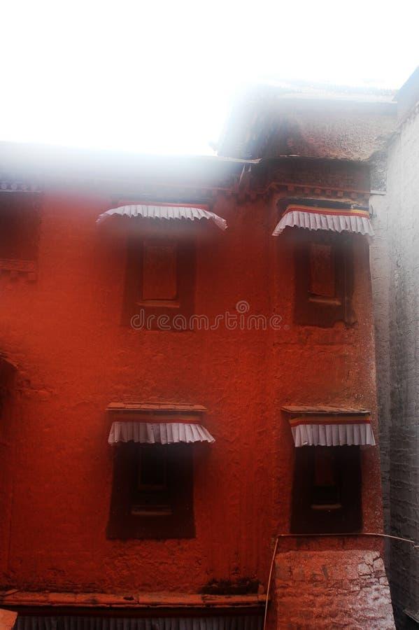 Edifício tibetano fotografia de stock