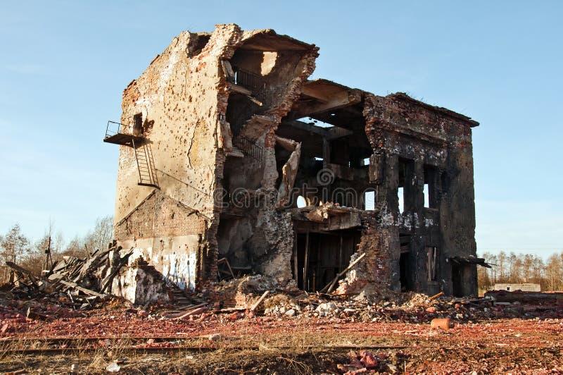 Edifício velho abandonado imagens de stock