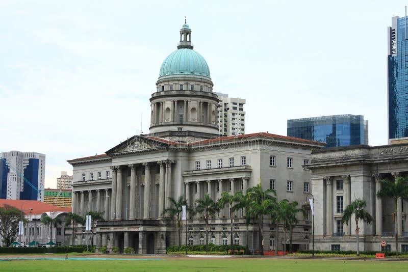 Edifício velho da corte suprema, Singapore foto de stock