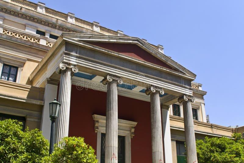 Edifício velho do parlamento de Greece em Atenas imagens de stock