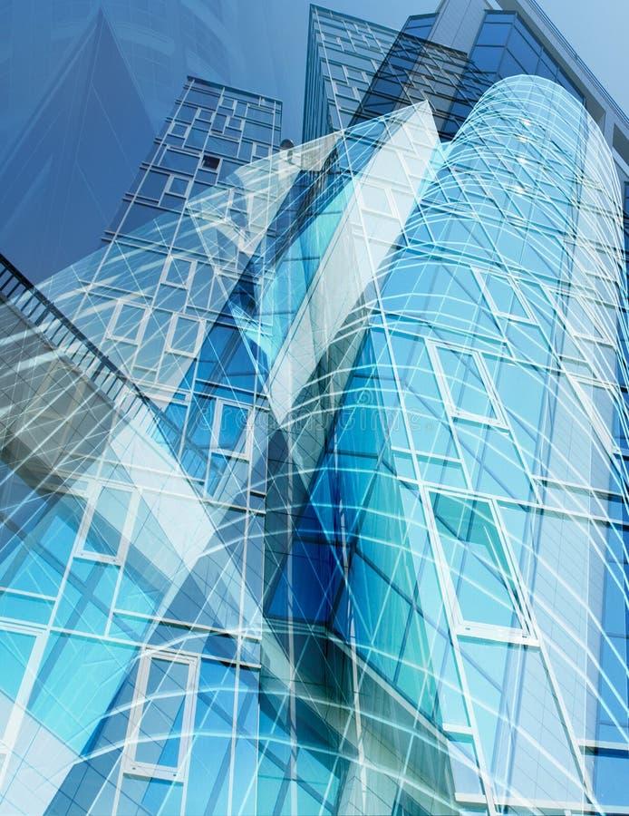edifícios 3d conceptuais ilustração royalty free