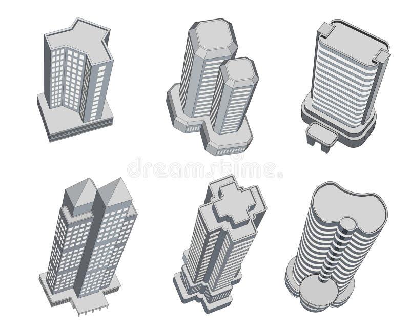 Edifícios altos ilustração do vetor