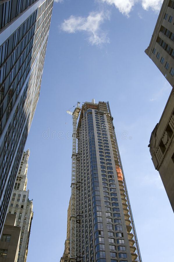 Edifícios altos em New York imagens de stock
