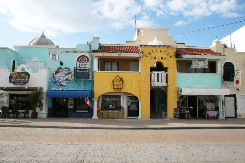 Edifícios coloniais fotografia de stock