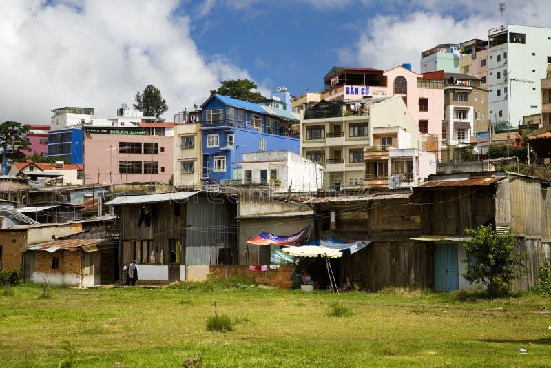 Edifícios coloridos em DaLat imagens de stock royalty free