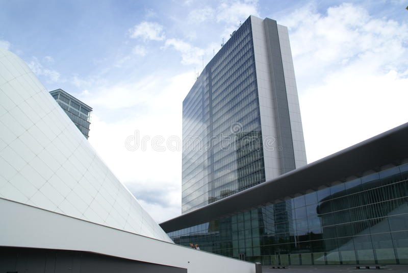 Edifícios da União Europeia fotos de stock royalty free