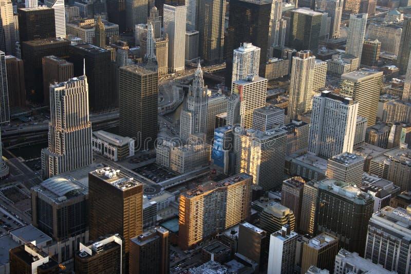 Edifícios de Chicago. imagens de stock