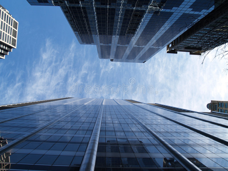 Edifícios de Chicago fotografia de stock royalty free