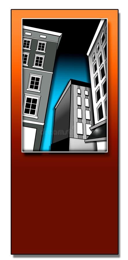 Edifícios de Deco ilustração stock