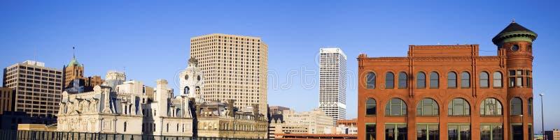 Edifícios de Milwaukee imagem de stock
