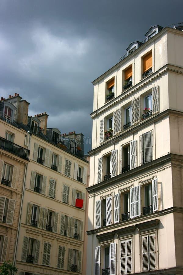 Edifícios de Paris imagem de stock