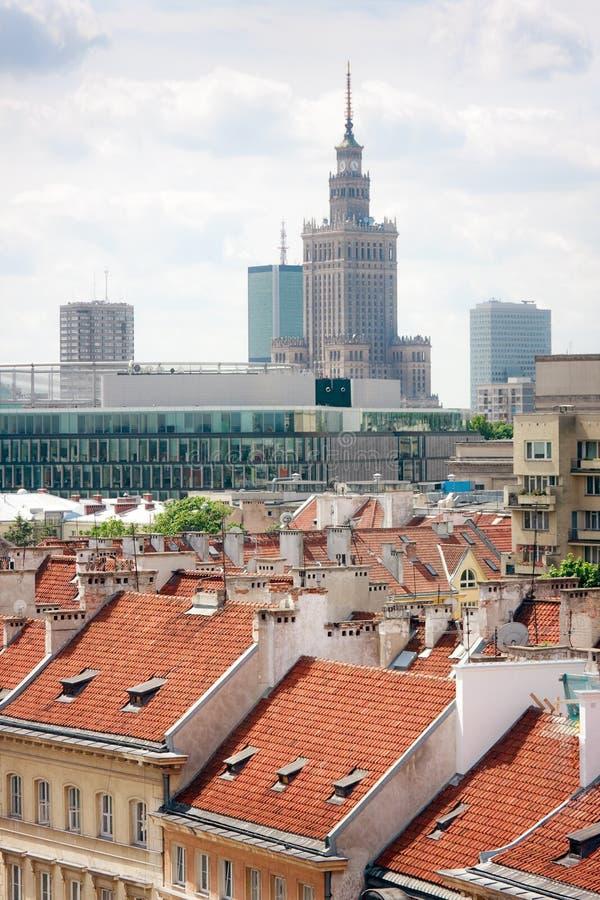 Edifícios de Varsóvia imagens de stock
