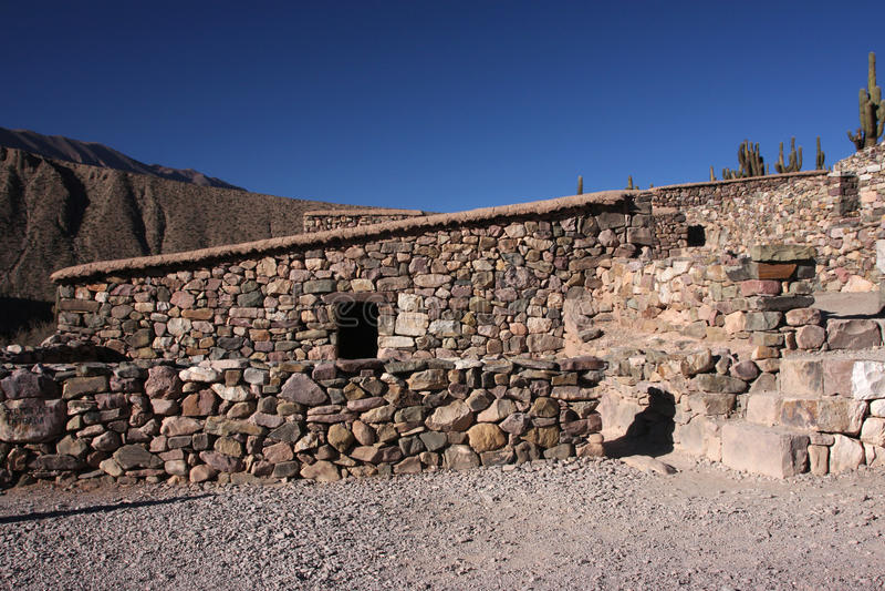 Edifícios do Inca imagens de stock royalty free