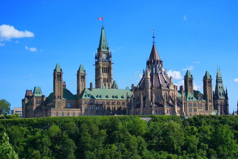 Edifícios do parlamento de Canadá imagens de stock royalty free