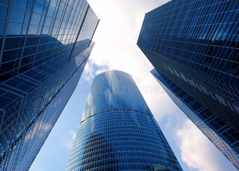 Edifícios do vidro do negócio imagem de stock royalty free