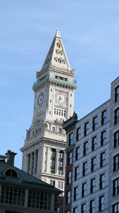 Edifícios E Marco De Boston Foto de Stock Royalty Free
