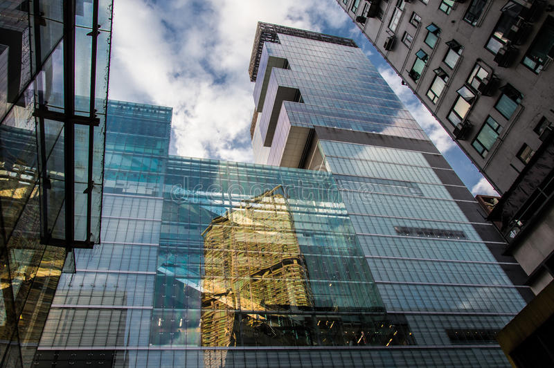 Edifícios em Hong Kong fotos de stock
