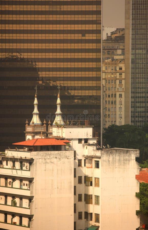 Edifícios em Rio de Janeiro imagens de stock royalty free